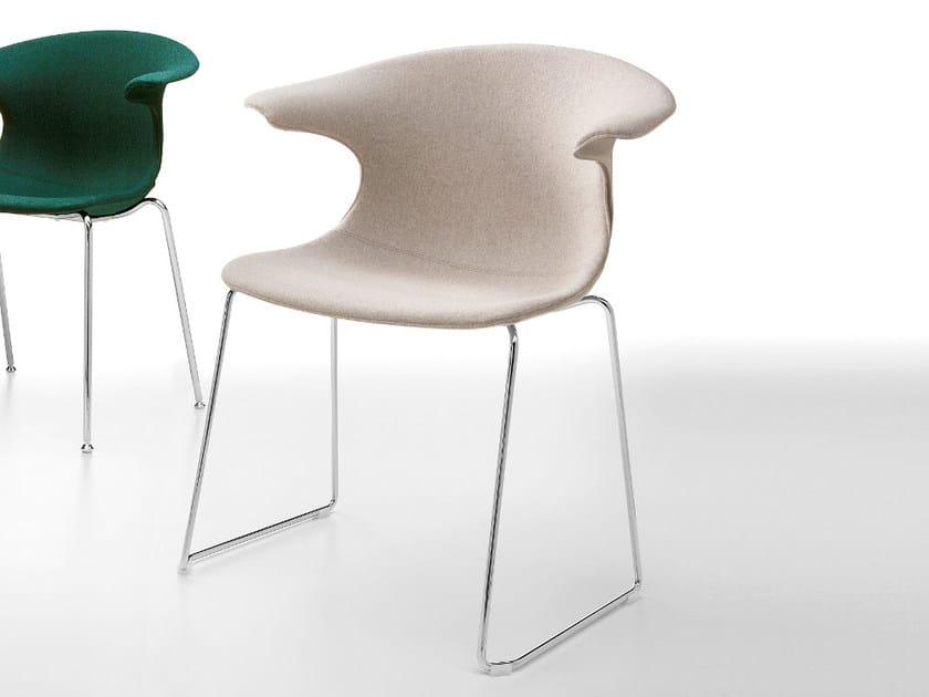 Sled base fabric chair LOOP   Sled base chair by Infiniti