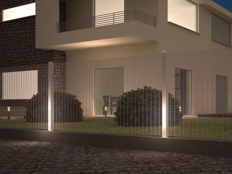 Palo per recinzione con illuminazione integrata b lux® betafence