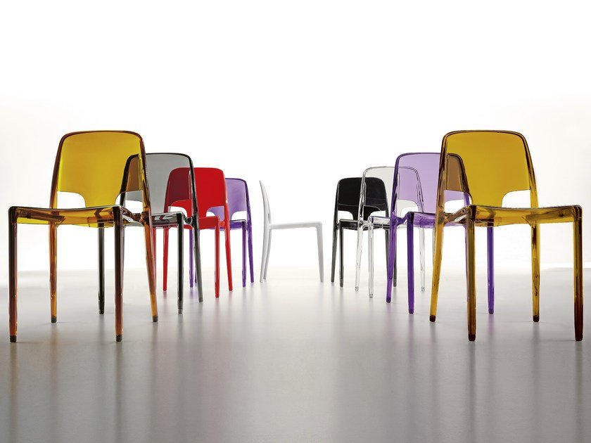 Stackable polycarbonate chair MARGOT by Infiniti