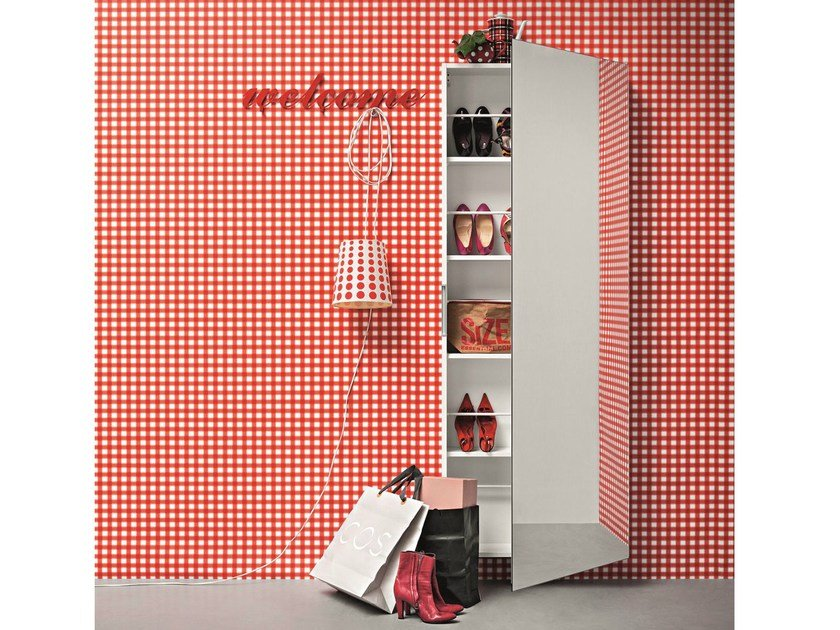 Wall mounted shoe cabinet WELCOME by Birex