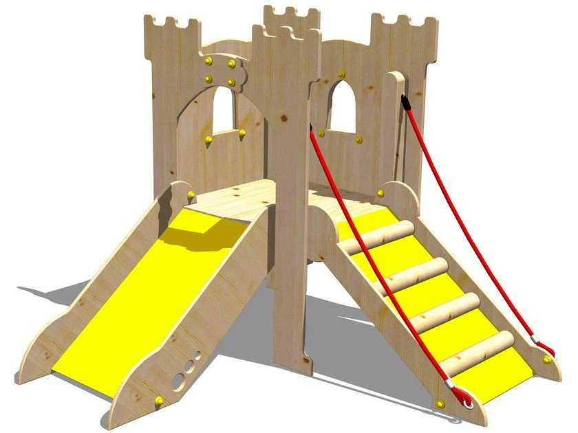 Wooden Play structure TORRE LANCILLOTTO by Legnolandia