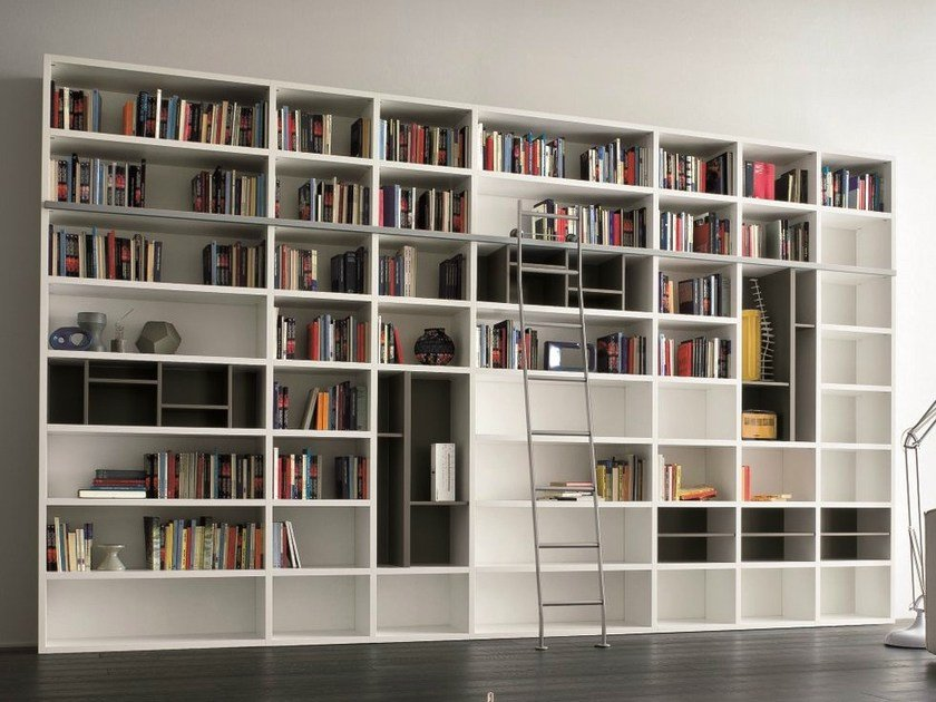 Open lacquered bookcase SPEED A by Dall'Agnese