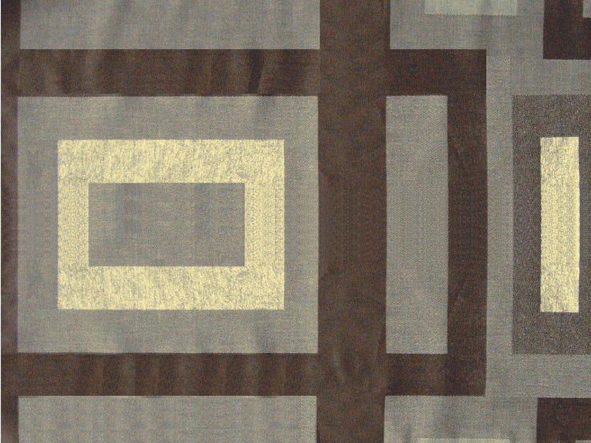 Cotton fabric with graphic pattern MARATHON CROSSING by KOHRO
