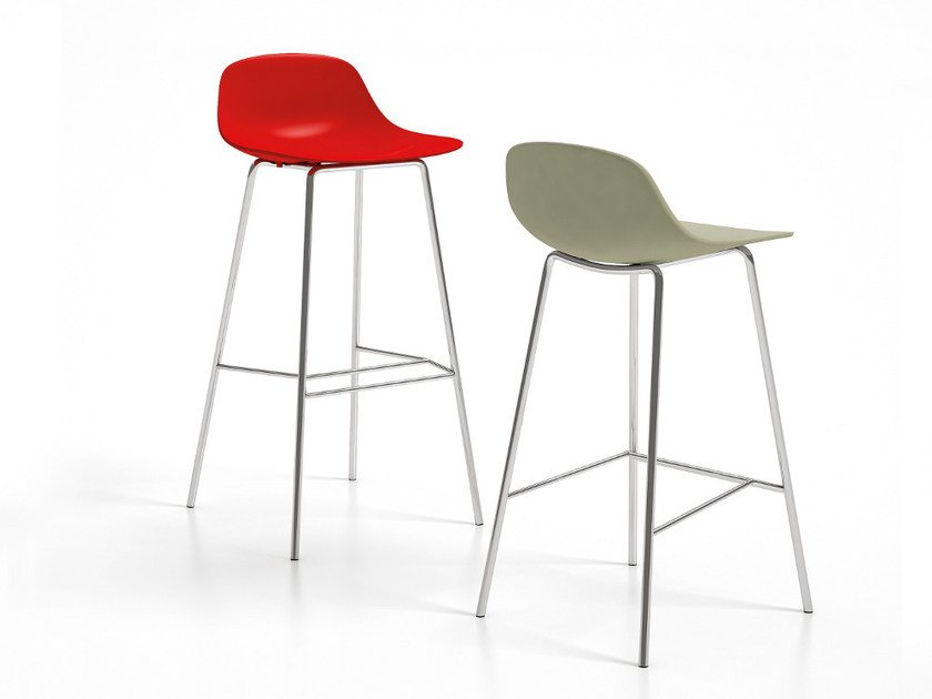 High stool with footrest PURE LOOP | Stool by Infiniti