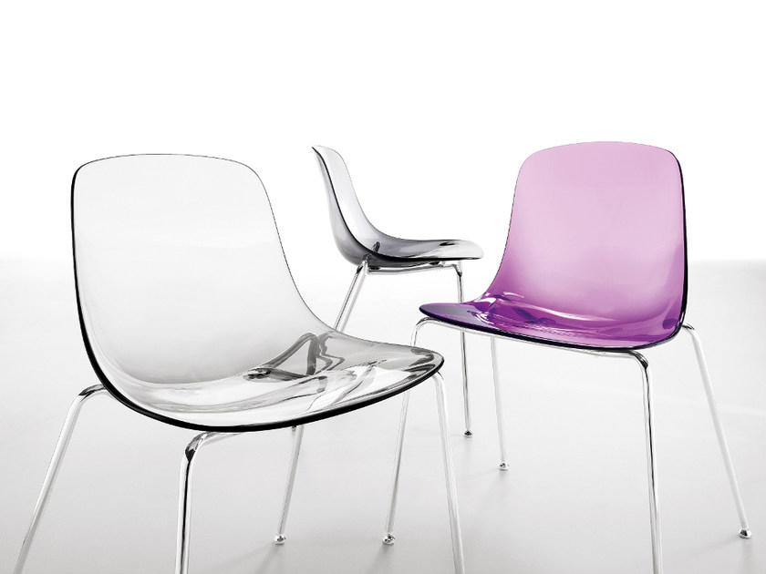 Stackable plastic chair PURE LOOP | Chair by Infiniti
