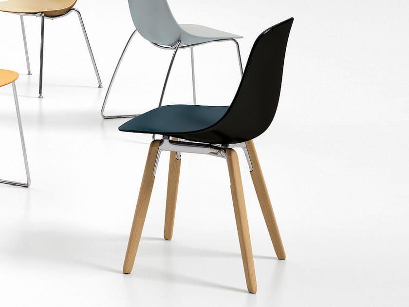 Polypropylene chair PURE LOOP BINUANCE | Chair by Infiniti