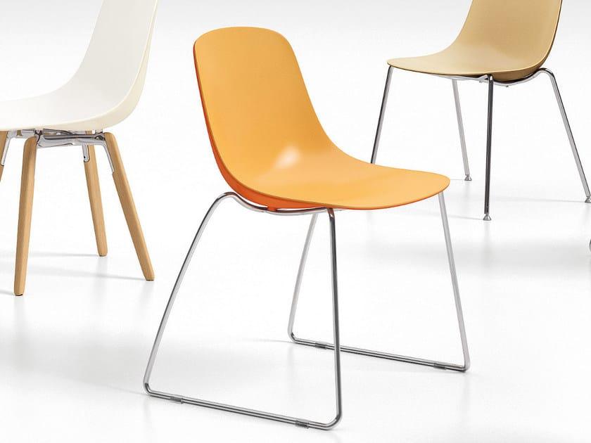 Sled base polypropylene chair PURE LOOP BINUANCE | Sled base chair by Infiniti