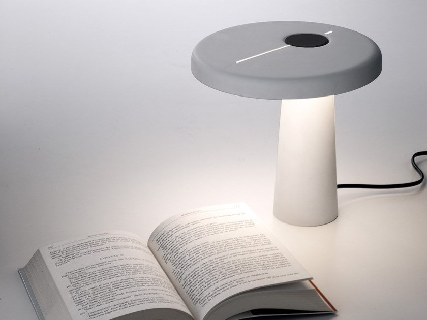 LED resin table lamp with dimmer HOOP by Martinelli Luce