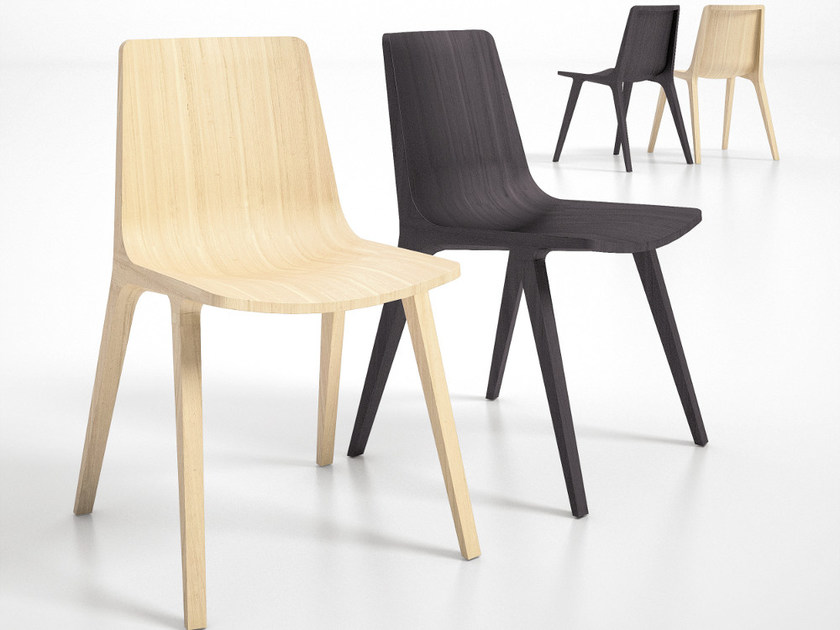 Multi-layer wood chair SEAME   Chair by Infiniti