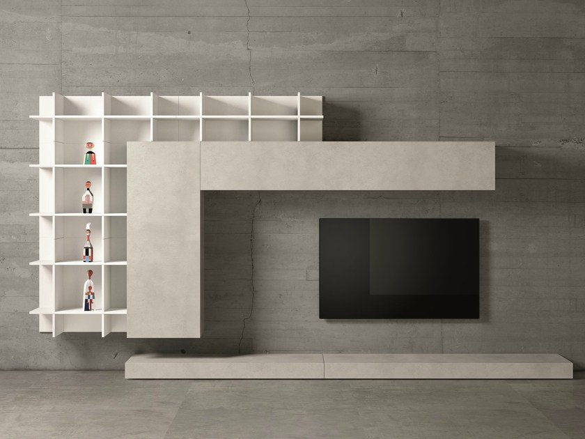 Design TV wall system SLIM 47 by Dall'Agnese