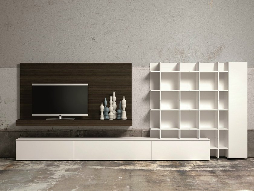 Sectional TV wall system SLIM 60 by Dall'Agnese