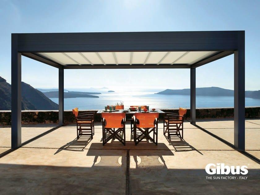 Freestanding aluminium pergola with sliding cover MED ROOM MAKI | Freestanding pergola by GIBUS