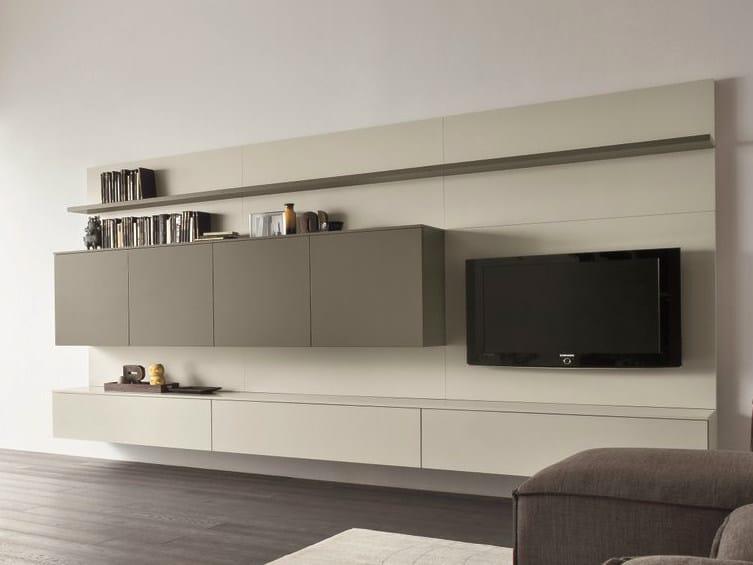 Wohnwand italian design  Anbau- TV- Wohnwand SLIM 14 By Dall'Agnese Design Imago Design
