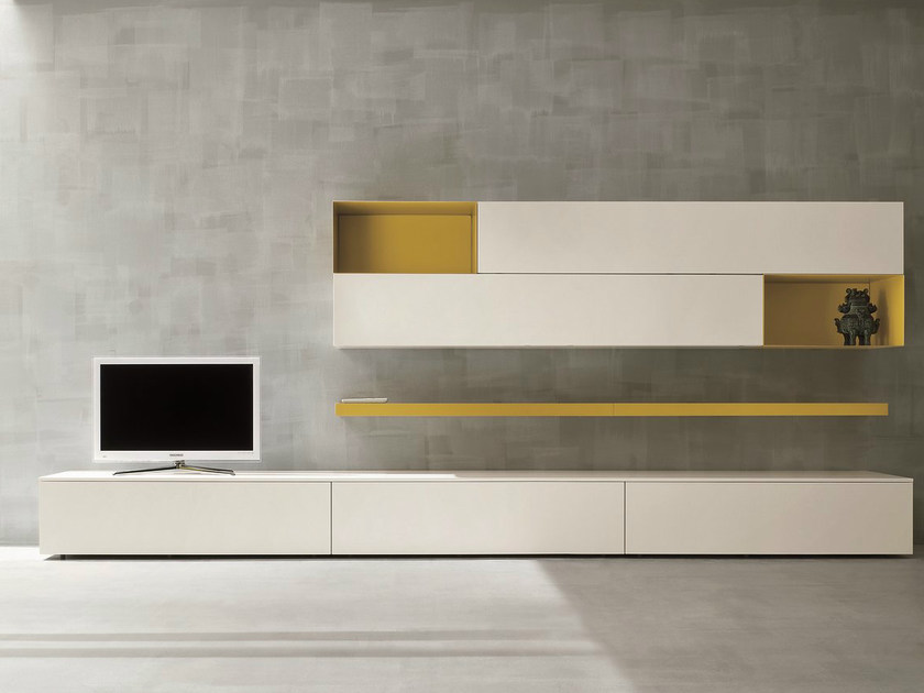 Sectional TV wall system SLIM 2 by Dall'Agnese