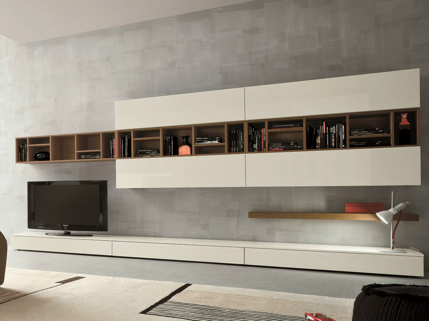 Sectional TV wall system SLIM 16 by Dall'Agnese