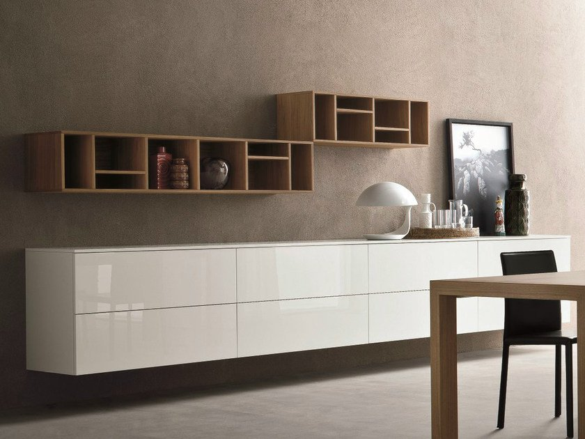 Lacquered suspended sideboard SLIM 15 by Dall'Agnese