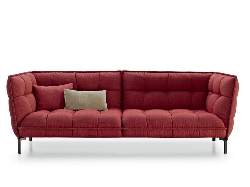 canap capitonn en tissu husk sofa by b b italia design. Black Bedroom Furniture Sets. Home Design Ideas