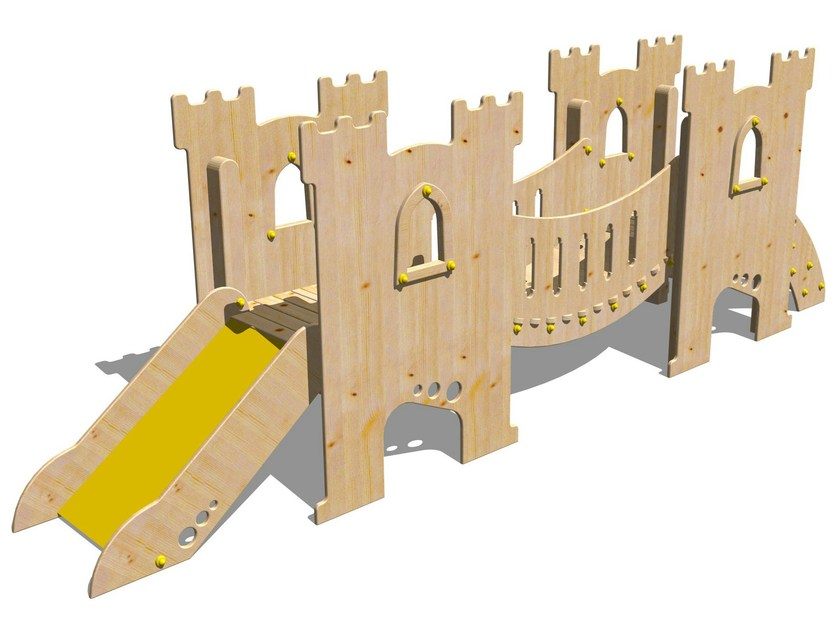 Wooden Play structure CASTELLO GRAAL by Legnolandia