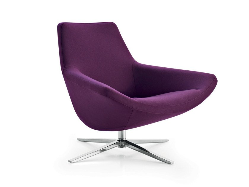 Swivel upholstered fabric armchair with 4-spoke base METROPOLITAN '14 | Armchair with 4-spoke base by B&B Italia
