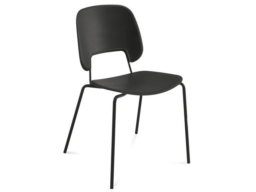 Stackable polypropylene chair TRAFFIC | Polypropylene chair by DOMITALIA