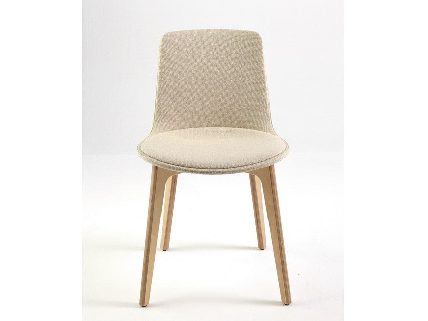 Contemporary style upholstered fabric chair LOTTUS WOOD | Upholstered chair by ENEA