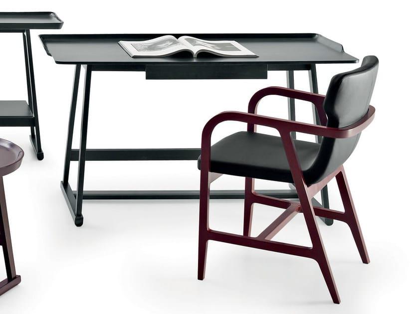 Oak writing desk with drawers RECIPIO | Writing desk by Maxalto