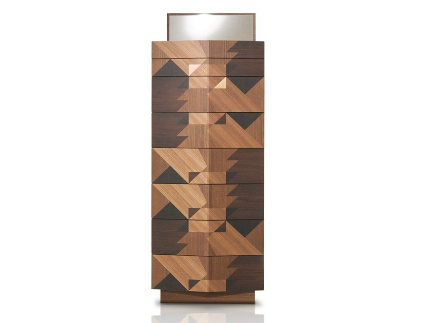Wooden chest of drawers MAGGIO by Porro