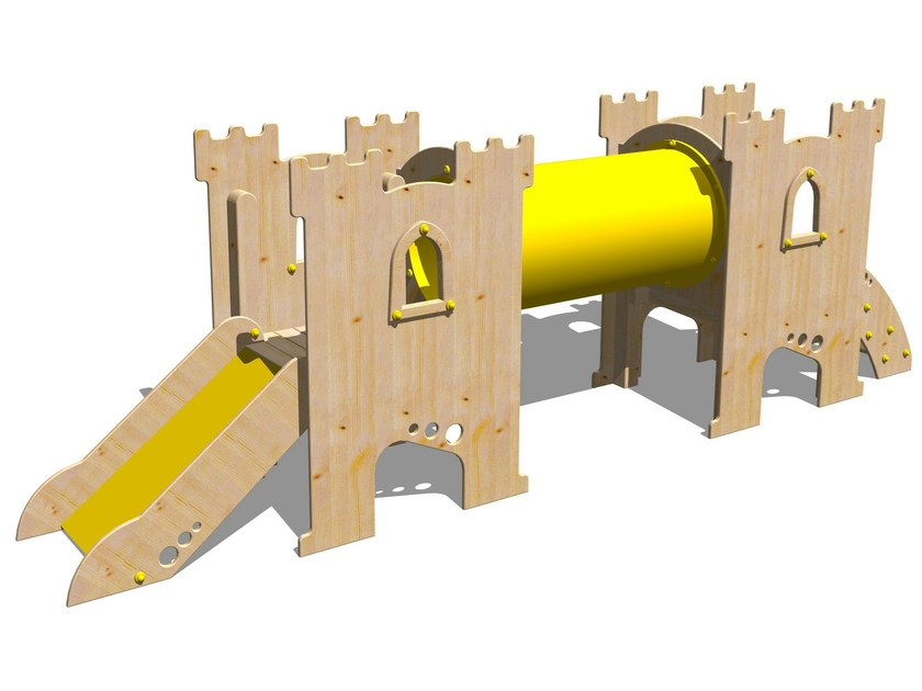 Wooden Play structure CASTELLO SHERWOOD by Legnolandia