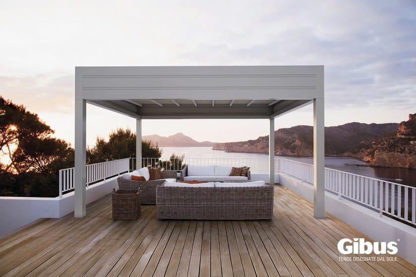 Freestanding aluminium pergola with sliding cover MED ROOM PLANA | Freestanding pergola by GIBUS