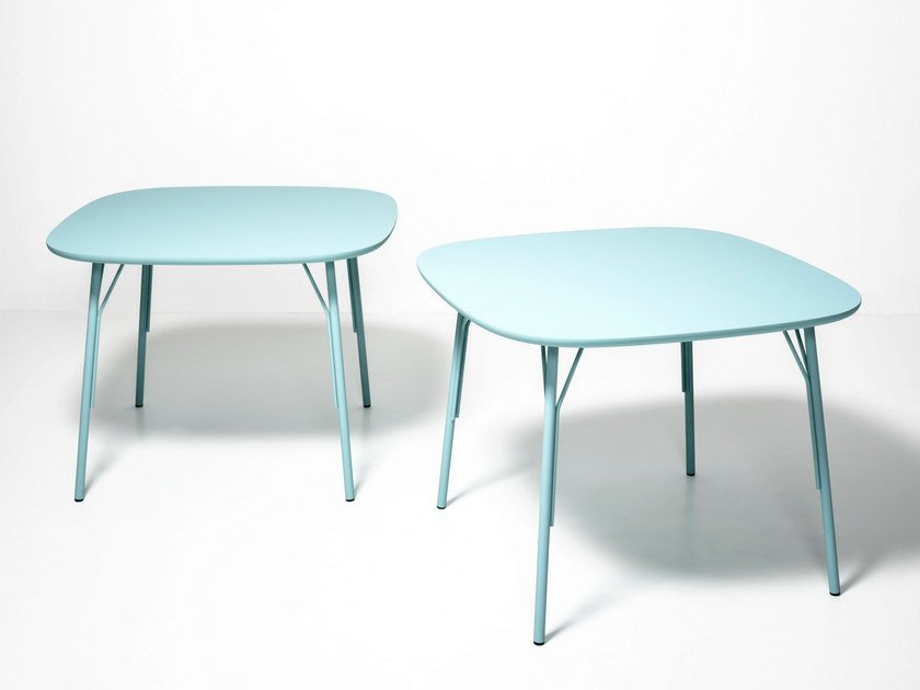 Lacquered square wooden table KELLY T | Square table by Tacchini