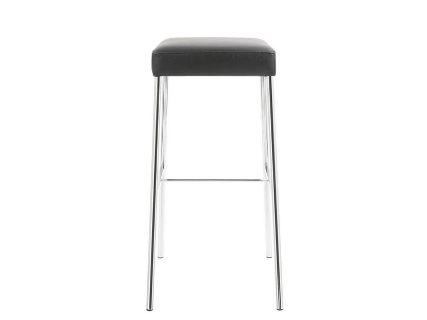 High upholstered leather stool GLOOH | High stool by KFF