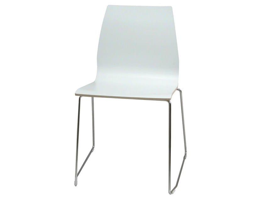 Stackable restaurant chair CLOUD-F-V by Vela Arredamenti