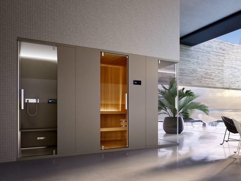 Pasodoble sauna by glass