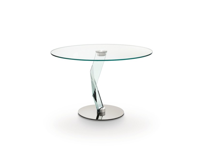 Round crystal table BAKKARAT | Round table by Tonelli Design