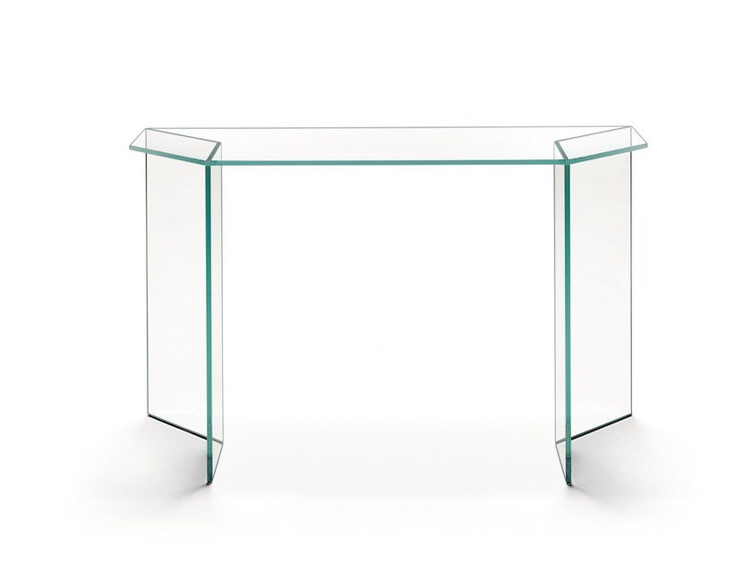 Glass console table MIRAGE | Console table by Tonelli Design