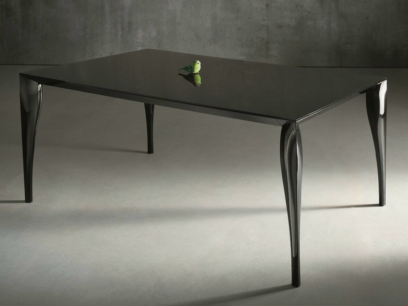 Extending lacquered glass table TOPAZIO by Dall'Agnese