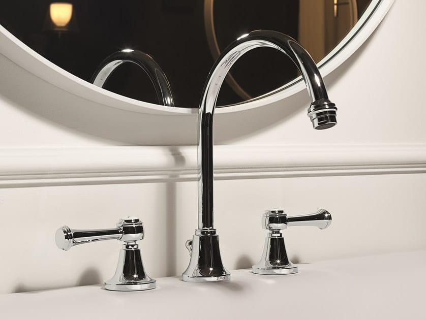 Classic style 3 hole washbasin tap AGORÀ CLASSIC | Chrome-plated washbasin tap by ZUCCHETTI