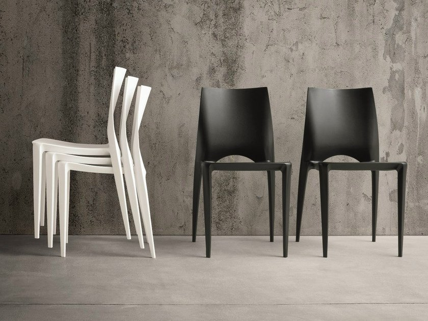 Stackable polypropylene chair EMY by Dall'Agnese