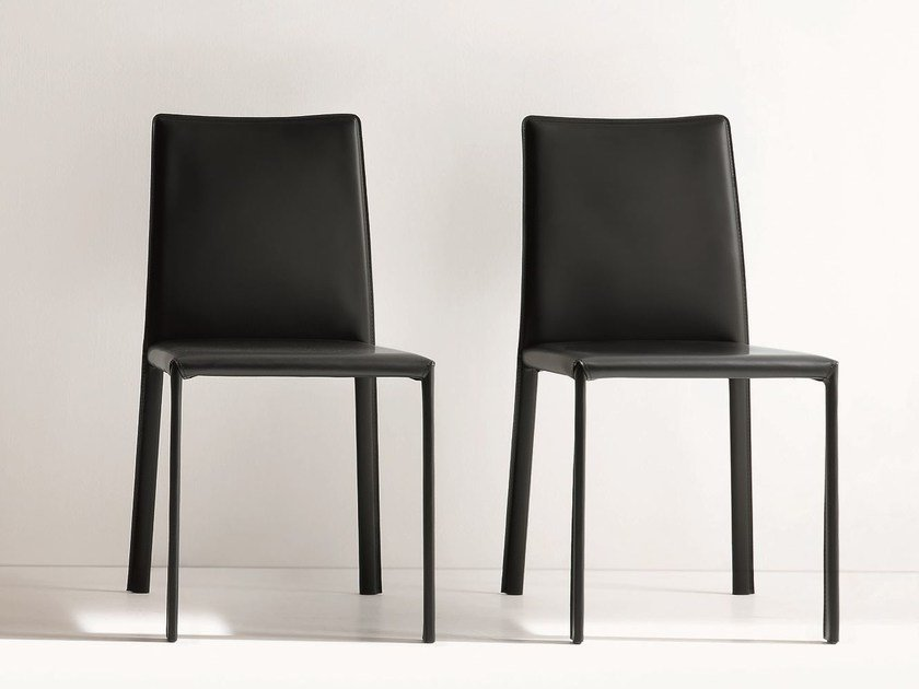 Bonded leather chair IRIS by Dall'Agnese
