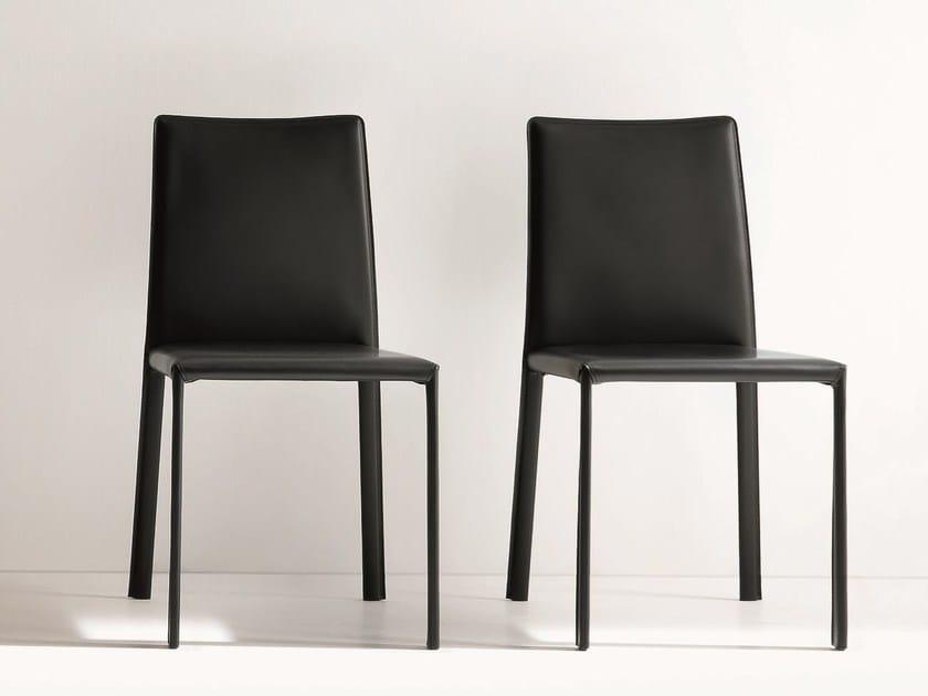 Sedia in cuoio rigenerato IRIS By Dall\'Agnese design Imago ...