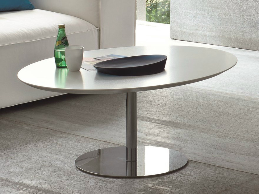 Lacquered oval coffee table for living room AERO by Dall'Agnese