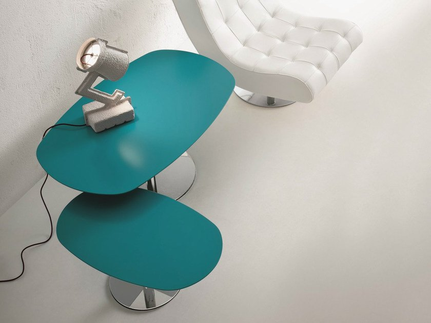 Lacquered oval coffee table BIG AMBO & LITTLE AMBO by Dall'Agnese