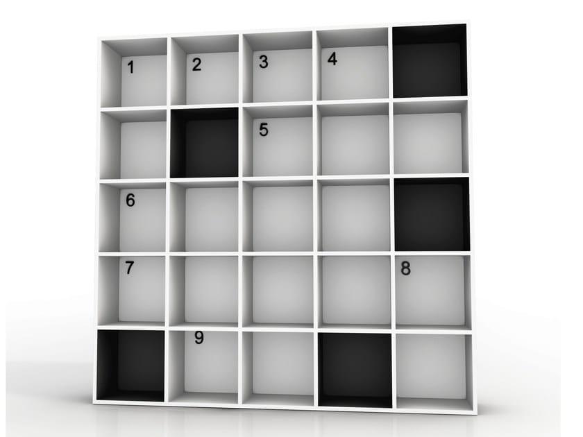 Open aluminium bookcase SHAKESPEARE AND COMPANY by altreforme