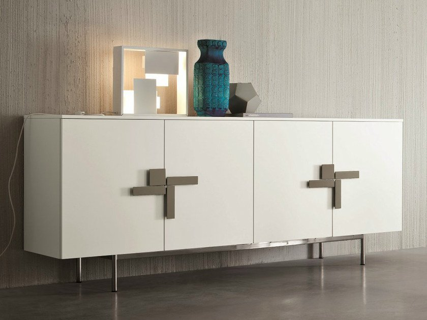 Lacquered sideboard with doors SLIM | Sideboard with doors by Dall'Agnese