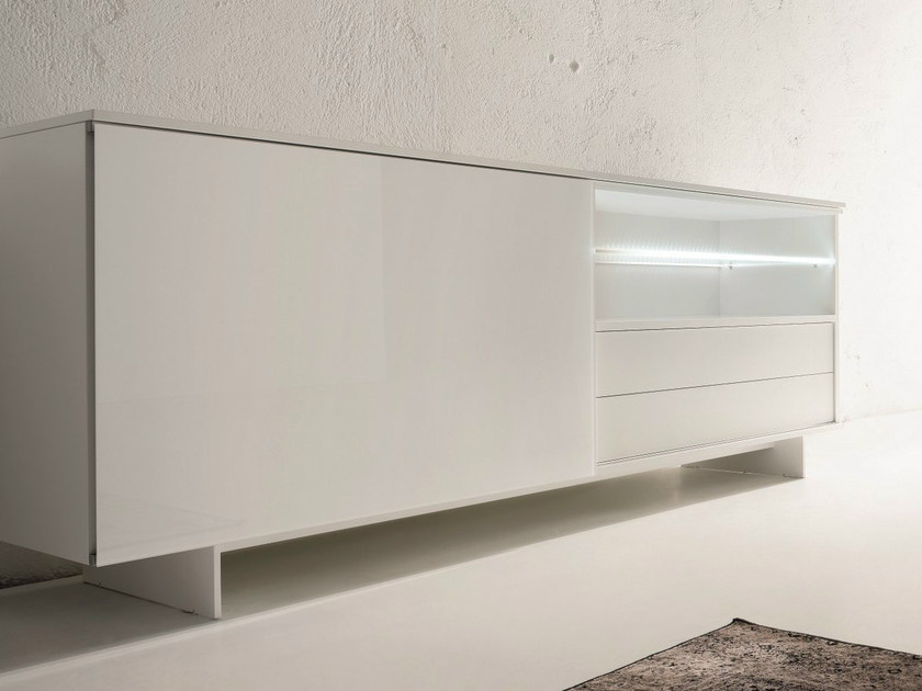 Lacquered sideboard with sliding doors SLIDE | Lacquered sideboard by Dall'Agnese
