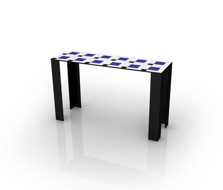 Rectangular aluminium console table COCO | Console table by altreforme