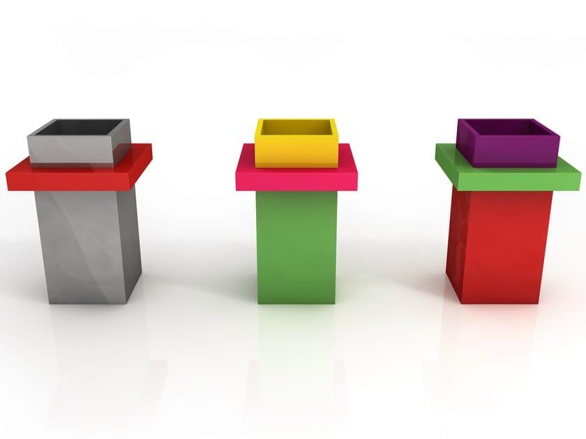 Contemporary style aluminium vase JEAN by altreforme