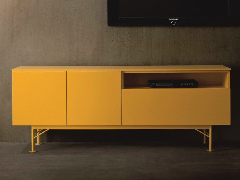 Lacquered sideboard with doors FASHION | Lacquered sideboard by Dall'Agnese
