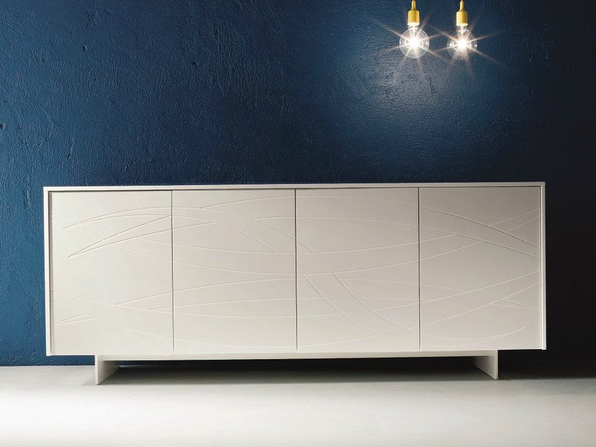 Lacquered sideboard with doors FIAMMA | Sideboard by Dall'Agnese