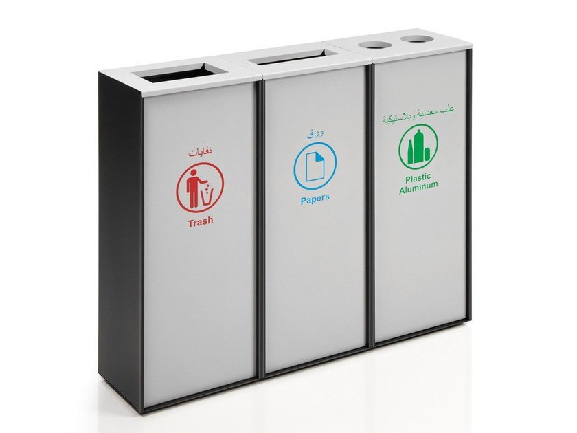Polycarbonate litter bin ZURICH PLUS by Made Design